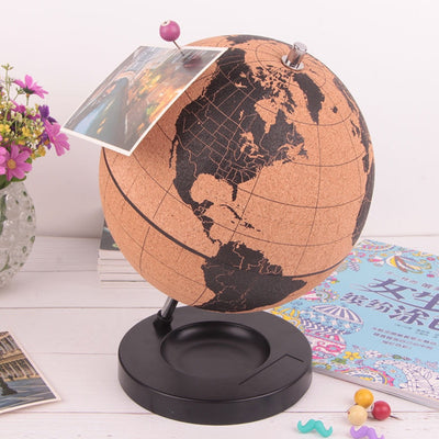 World Globe Cork Wood