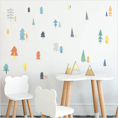 Colorful Woodland Wall Stickers