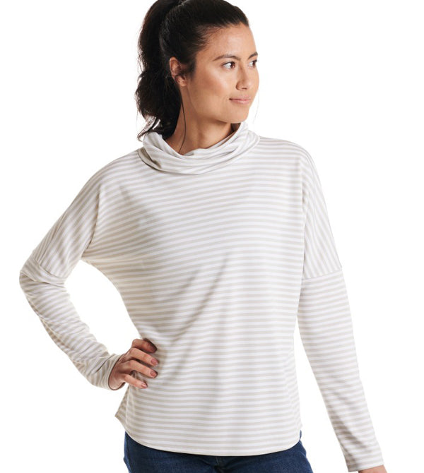 Oiselle Big Stripe Mock Neck