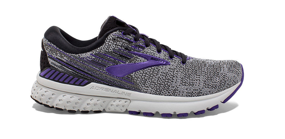 Gray purple black women's running shoes - San Diego Running Gear