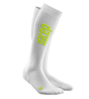 CEP Pro+Run Ultralight Socks Wte/Grn Womens III Wte/Grn III