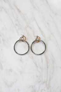Double Hoop Earrings - Amethyst Studio