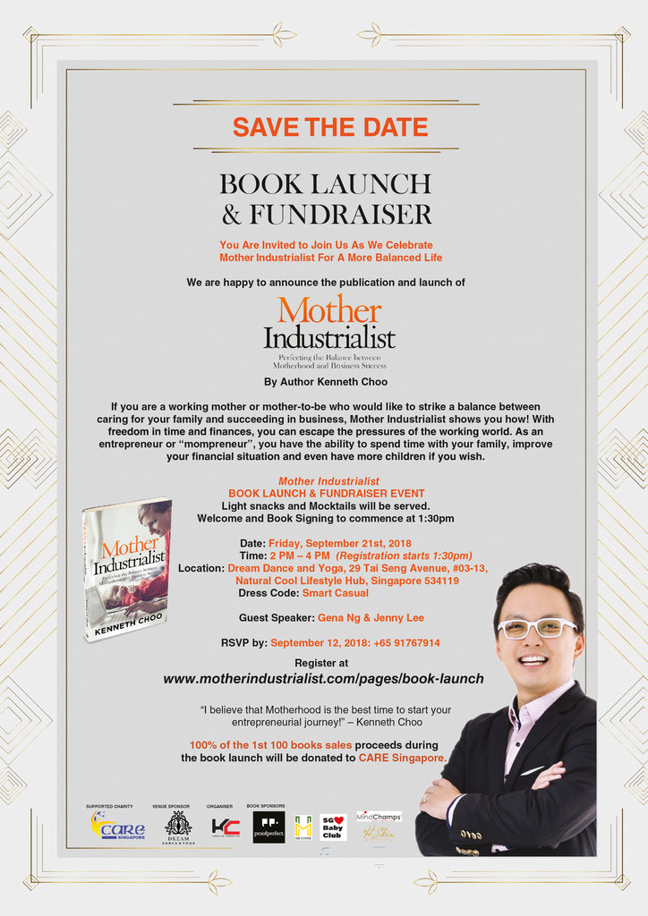 Mother Industrialist Book Launch & Fundraiser Invitation