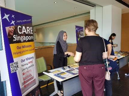 CARE Roadshow booth