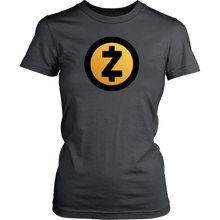 Zcash Gold Logo Womens Shirt
