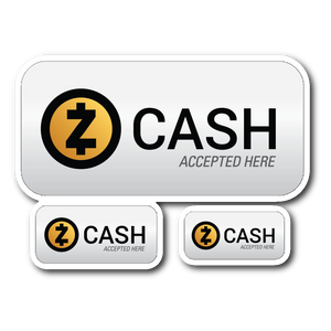 Zcash Accepted Here Stickers