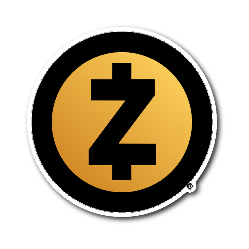 Zcash Gold Logo Sticker