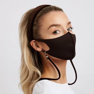 Mask Velvet Lace Dark Brown