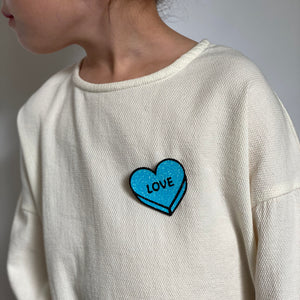 Badge LOVE Bright Blue