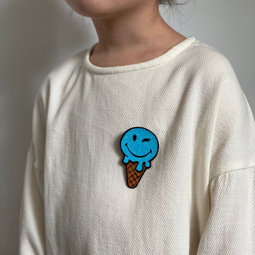 Badge Ice Cream Bright Blue
