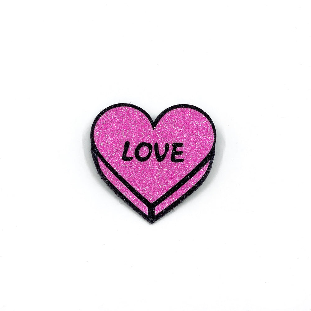 Badge LOVE Bright Pink