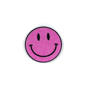 Badge Smiley Bright Pink