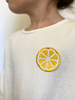 Badge Fruit Lemon