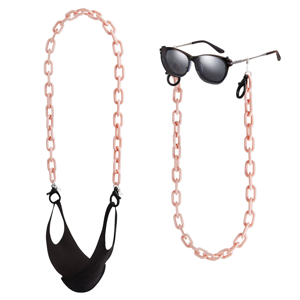 Mask Chain Pink Beige