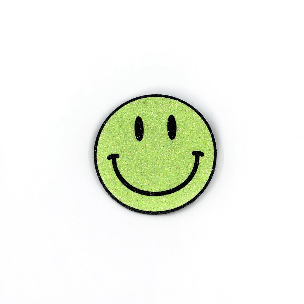 Badge Smiley Neon Yellow