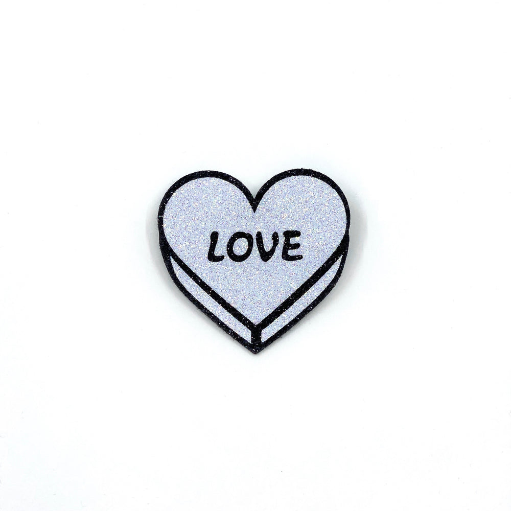 Badge LOVE Silver