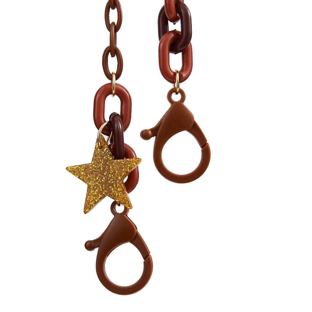 Mask Chain Star Brown