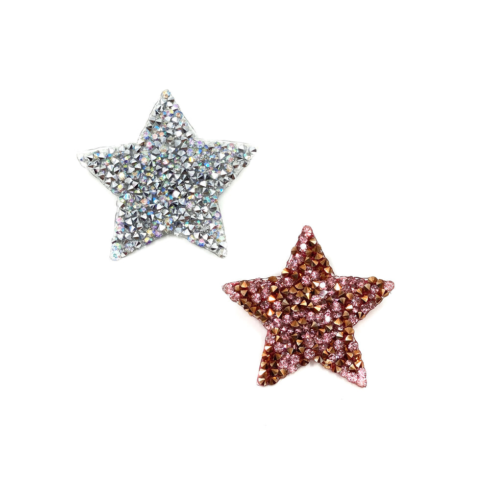 Badge Sparkle Star Silver