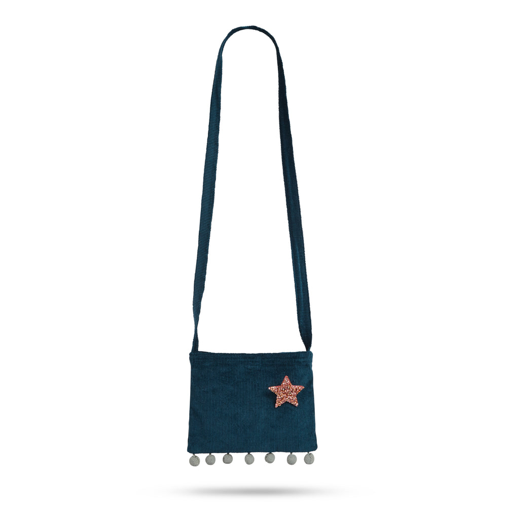 Pom-Pom Star Bag Dusty Blue