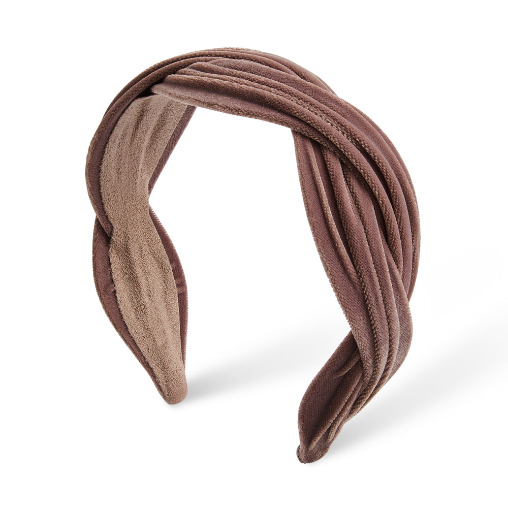 Braided Band Velvet Light Taupe