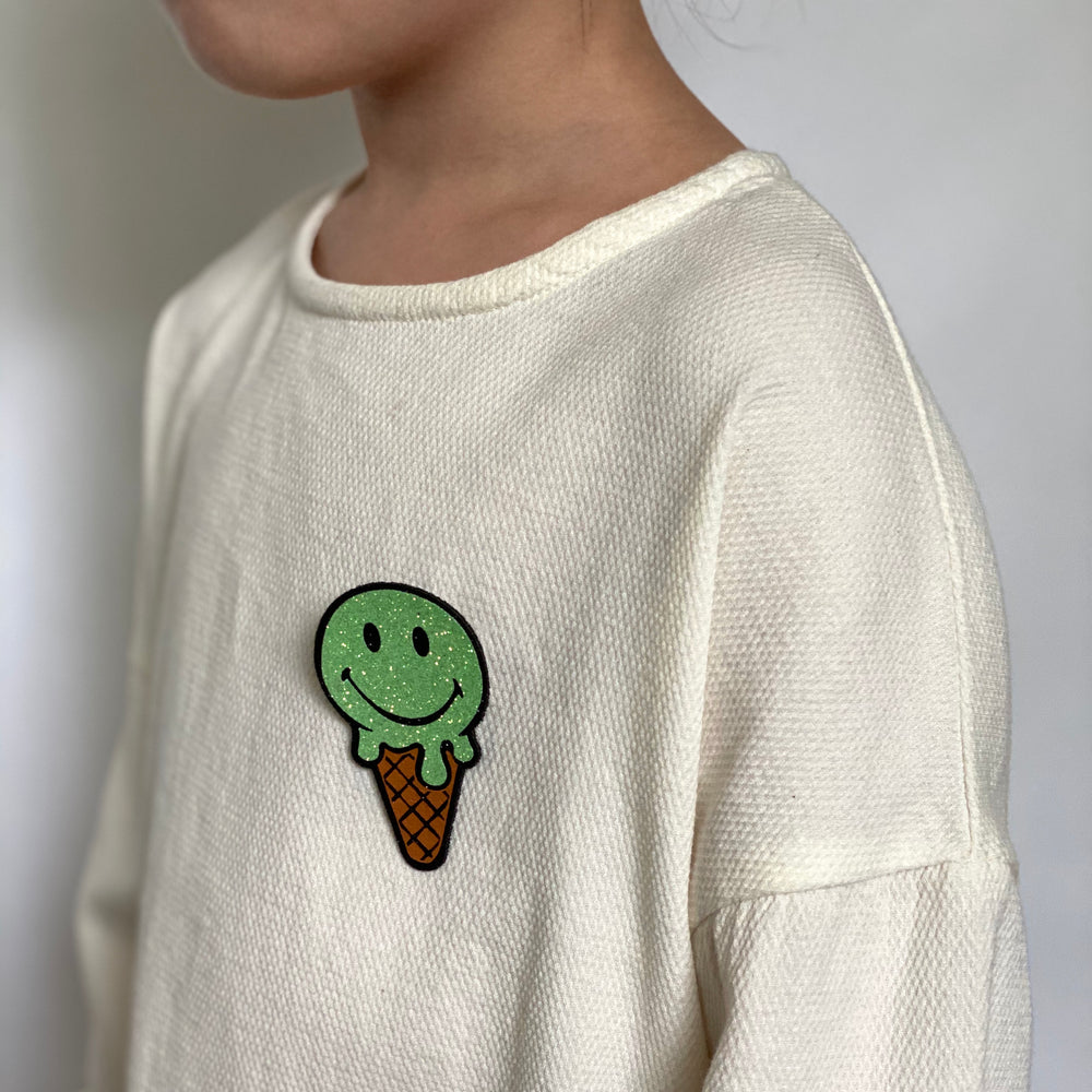 Badge Ice Cream Bright Green