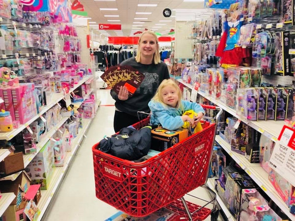 Jenni shopping for Angel Tree Gifts