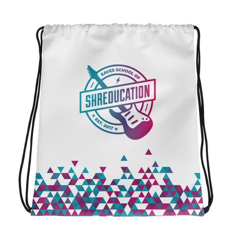 Shreducation Triangle Drawstring Bag