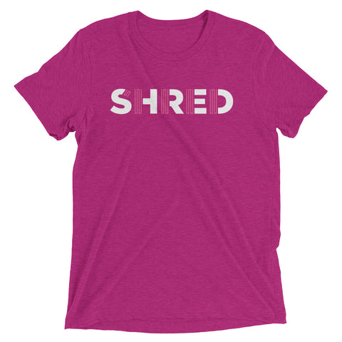 Shred short sleeve tri-blend t-shirt - pink