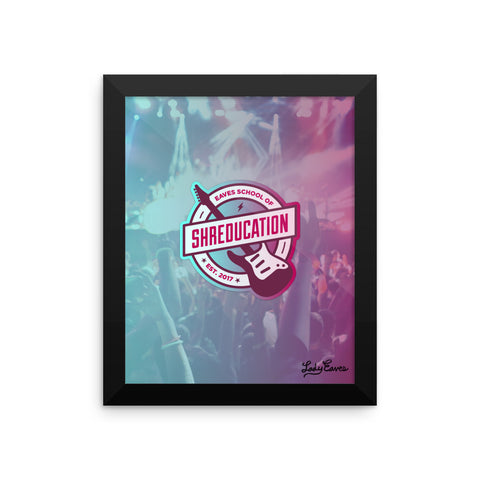 Shreducation Framed Poster 8x10