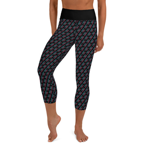 Shreducation University Metal Yoga Capri Leggings