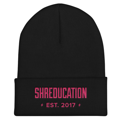 Shreducation Cuffed Beanie - Pink