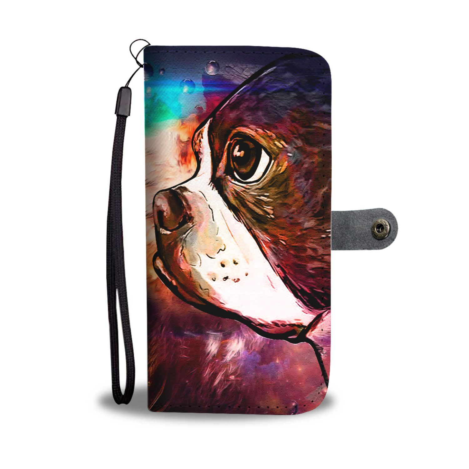 Cute Pug Phone Wallet - DrawPunk