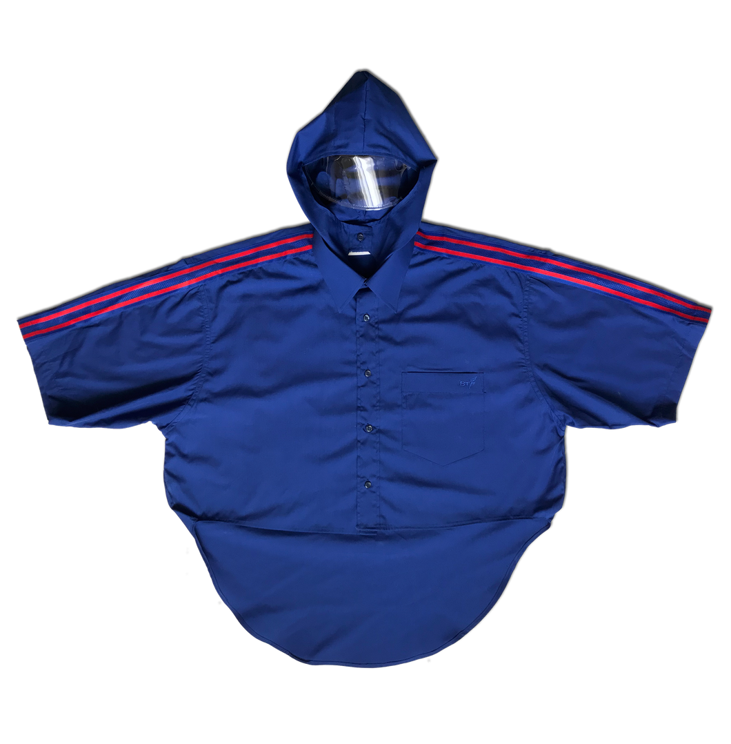 Hooded Shirt with Clear Visor