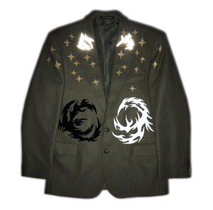 """The Battle of Opposites"" Jacket with print"