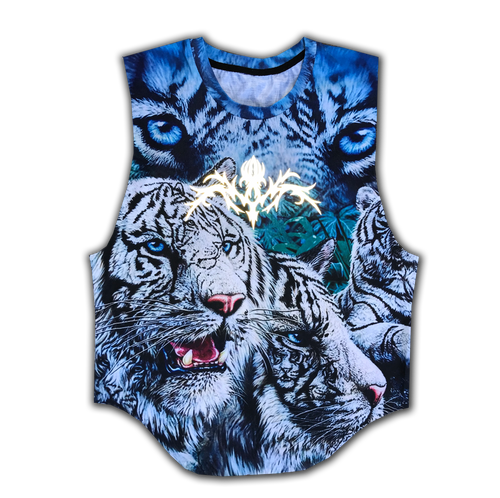 Animal Top with Reflective print
