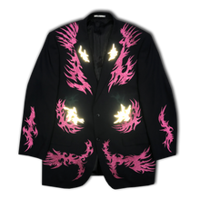 Oversized Wool Jacket with light reflecting print