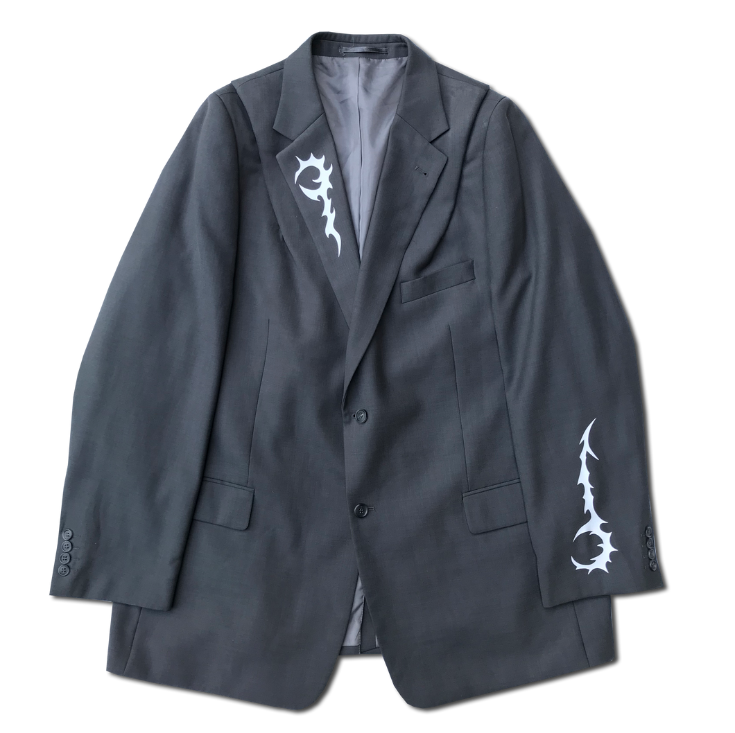 Deconstructed Suit Jacket With Print