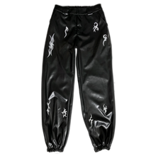Lacquer Track Pants With Reflective Print