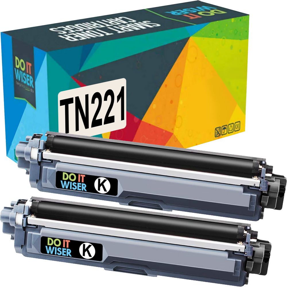 Compatible Brother DCP-9015CDW Toner Black 2 Pack High Yield by Do it Wiser