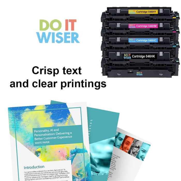 Compatible Canon Color imageCLASS MF733Cdw Toner Set High Yield by Do it Wiser