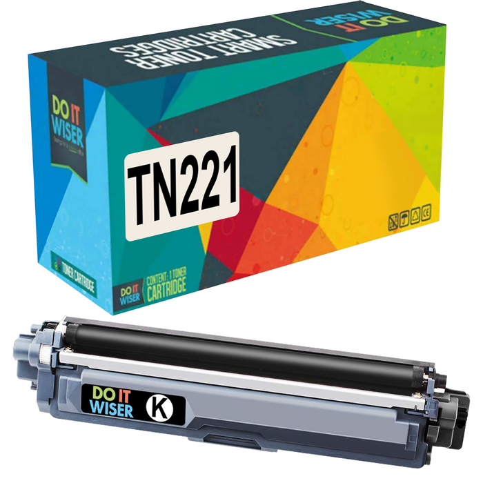Compatible Brother TN221 Toner Black High Yield by Do it Wiser