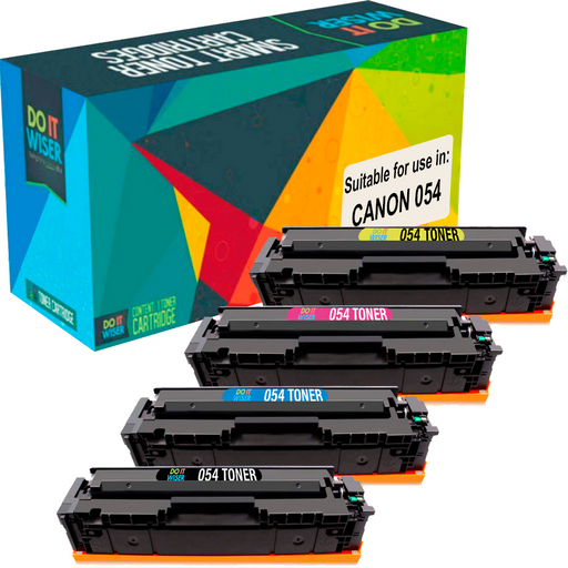 Compatible Canon 054 Toner 4 Pack by Do it Wiser