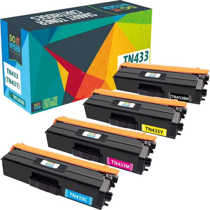 Brother TN433 Toner Set High Yield