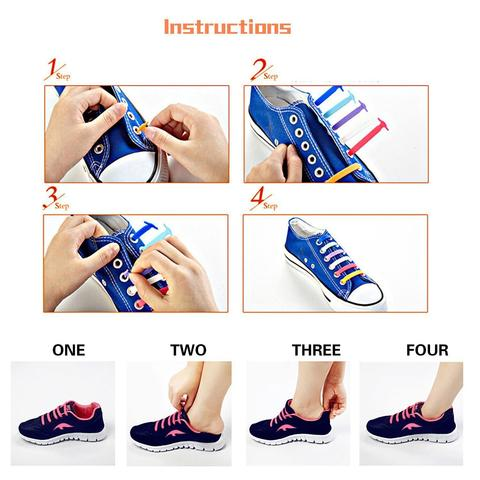 how to install silicone no tie shoelaces