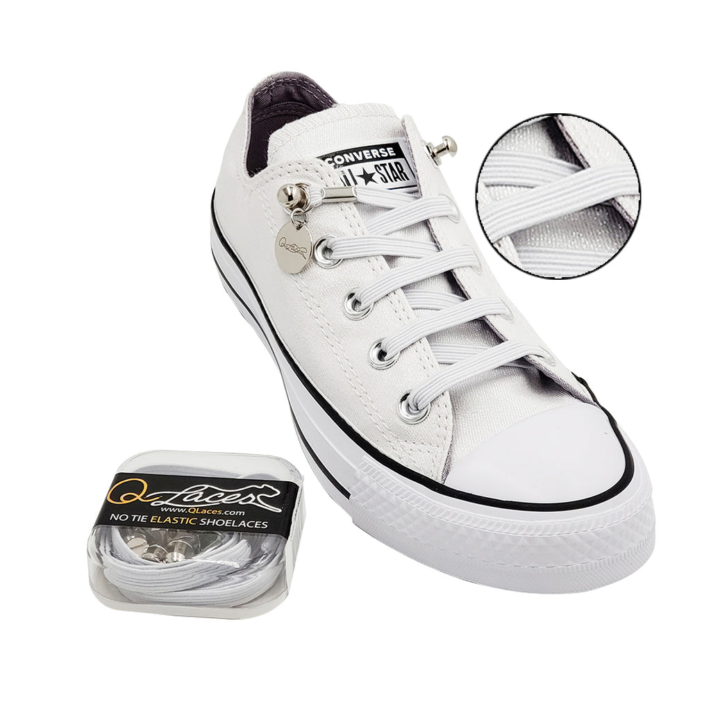 3acee2fc426a No Tie Shoelaces by Qlaces - white. Hover to zoom