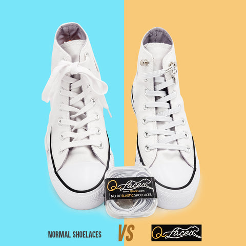 Image of No Tie Shoelaces by Qlaces - white