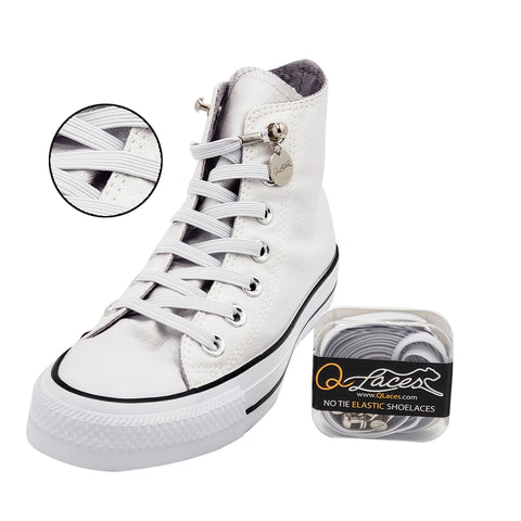 No Tie Shoelaces by Qlaces - white