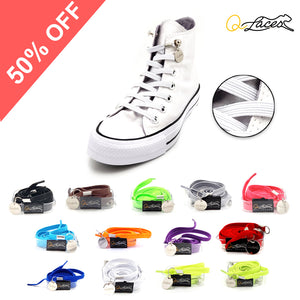 No Tie Shoelaces by Qlaces - polyester