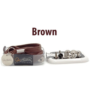 Brown Polyester Elastic No Tie Shoelaces for Adults & Kids