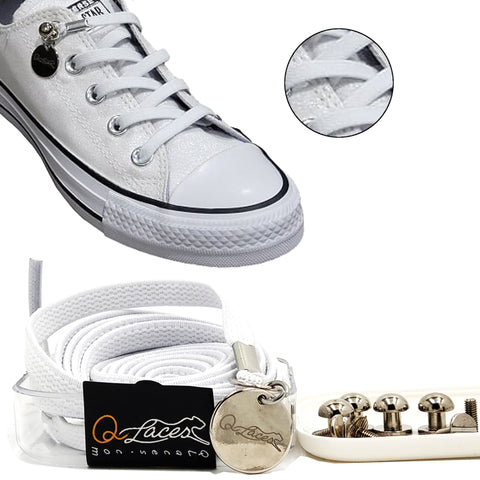 white no tie shoelaces for kids